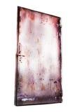 Lock rusty steel door Stock Photos