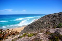 Lock's Well, Eyre Peninsula. Dramatic coastal scenery at Lock's Well, a popular location for surf fishing, Eyre Peninsula (Australia Stock Photo