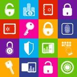 Lock safe icons Stock Image
