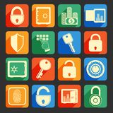 Lock safe icons Stock Photography