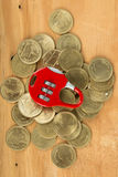 Lock and save your money Stock Image