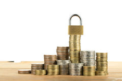 Lock and save your money Stock Photos