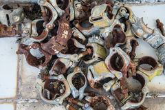 Lock Scaffolding. Many lock Scaffolding on the floor Stock Photography