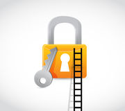 Lock secure ladder concept illustration Stock Photo