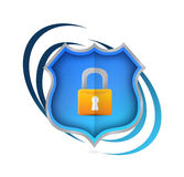 lock security shield network concept Royalty Free Stock Photography