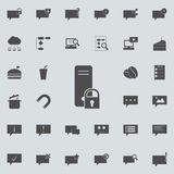 Lock on the server icon. Detailed set of Minimalistic icons. Premium quality graphic design sign. One of the collection icons fo. R websites, web design, mobile Royalty Free Illustration