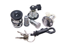 Lock Set and keys Royalty Free Stock Photos