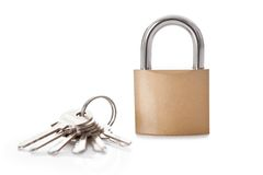Lock and set of keys Stock Image