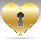 Lock shape heart object Stock Photo