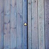 Lock on shed / garage door, property, exteriors, security or back Stock Photos