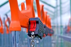 Lock of shopping cart Stock Photos