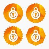 Lock sign icon. Locker symbol. Royalty Free Stock Images