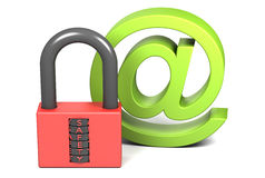 Lock and sign AT Stock Photography