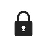 Lock sign vector icon. Padlock locker illustration. Business con Royalty Free Stock Photography