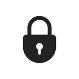 Lock sign vector icon. Padlock locker illustration. Business con Royalty Free Stock Images