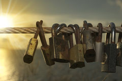 Lock on sling Royalty Free Stock Images