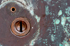 Lock in Steel Door Stock Photography