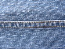 Lock Stitch on blue jeans. Lock Stitch on blue color jeans royalty free stock image