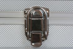 Lock of suitcase Stock Photo