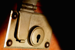 Lock suitecase.  stock images