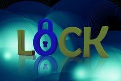 Lock symbol Stock Image
