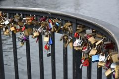 The lock, a symbol of eternal love royalty free stock image