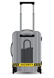 Lock symbol on suitcase Stock Photography