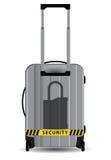 Lock symbol on suitcase Stock Photography