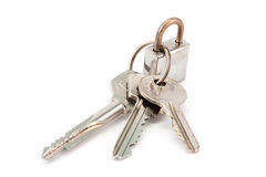 Lock and three keys Royalty Free Stock Photography