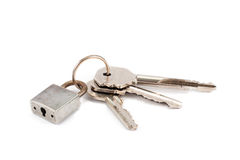 Lock and three keys Stock Image