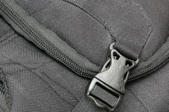 Lock to secure the bag. Lock on the top of the bag is intended to secure Stock Images