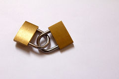 Lock together with white background Royalty Free Stock Photography