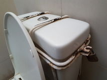 Lock toilet. Royalty Free Stock Photos