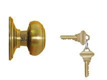 Lock and two keys Stock Image