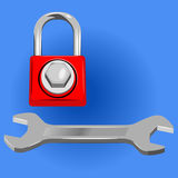 Lock universal key Royalty Free Stock Photo