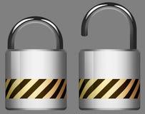 Lock Unlock Stock Photo