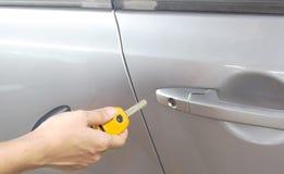 Lock/unlock car door Stock Image