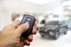 Lock and Unlock CAR with Remote keys. For security stock images