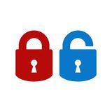 Lock-unlock icon Royalty Free Stock Photo