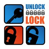 Lock-unlock icon Royalty Free Stock Image