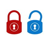 Lock unlock icon. Concept computer security Royalty Free Stock Images