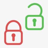 Lock unlock icon. Flat  stock illustration Stock Images