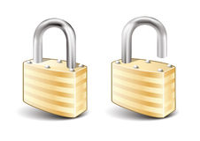 Lock and Unlock icon Stock Photos