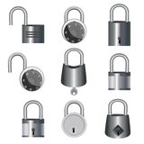 Lock and unlock icons Stock Images