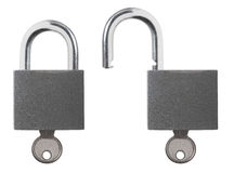 Lock Unlock Padlock Royalty Free Stock Images