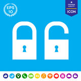 Lock, unlock - set  icon Royalty Free Stock Image