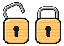 Lock and unlocked by  Royalty Free Stock Photos