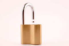 Lock in unlocked position Stock Photography