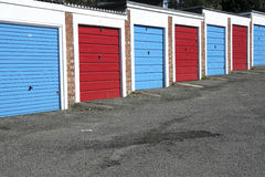 Lock up garages stock photo