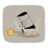 Lock up working hard Royalty Free Stock Photo